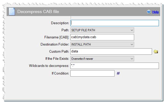 Команда Распаковать CAB файл