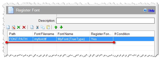 Регистрация шрифта