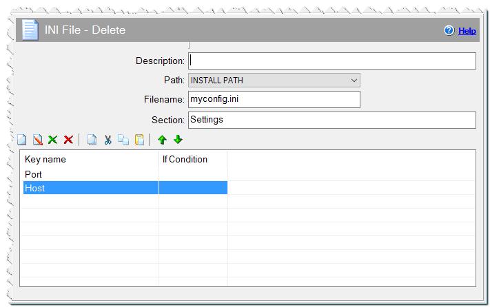 Команда INI файл - Удалить ключ или секцию