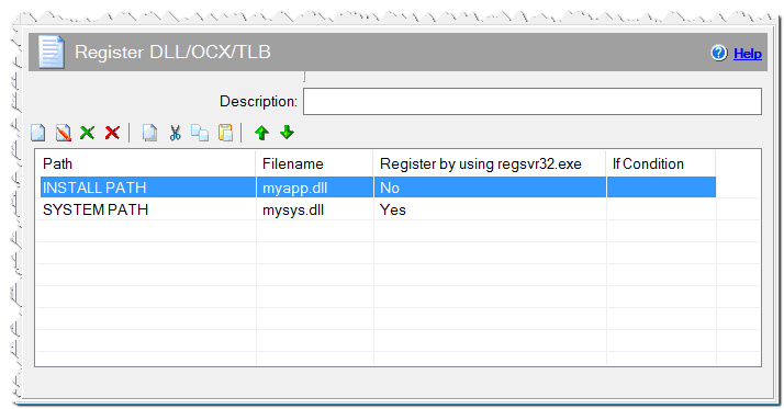 Команда Регистрация DLL/OCX/TLB